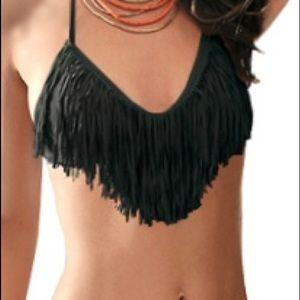 L Space Black Audrey bathing suit top, D cup